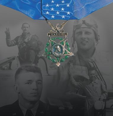 Medal of Honor panel in the Korean War Gallery. (U.S. Air Force image).