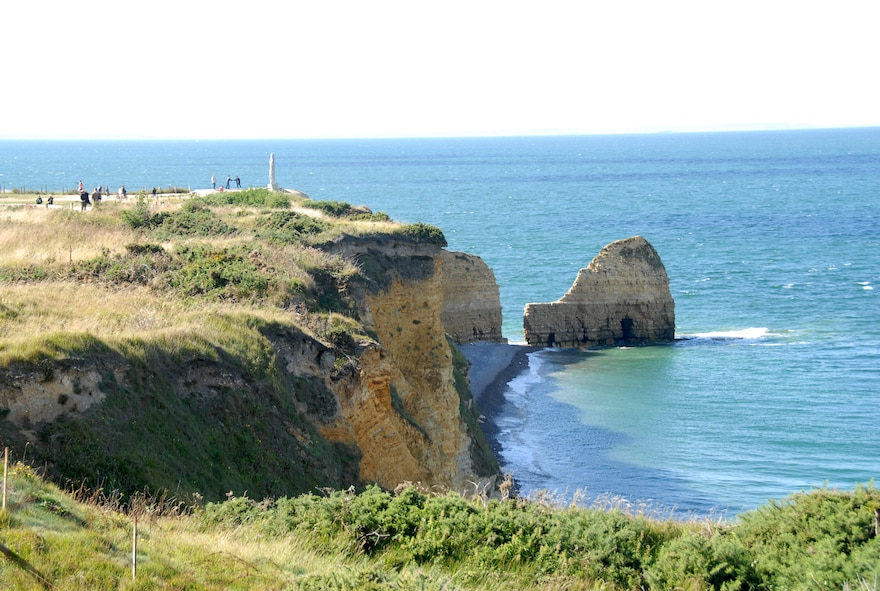 POINTE DU HOC, France -- The 2nd Ranger Battalion climbed these sheer, 100-foot cliffs to neutralize the German guns pounding Omaha and Utah Beaches on D-Day, June 6, 1944. Today the site is a memorial to the Rangers who fought and died there. (U.S. Air Force photo/Senior Master Sgt. Valerie J. Weaver)