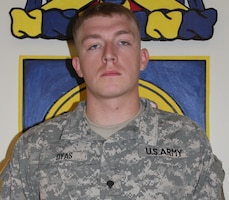 Spc. Robert Dyas died Sep. 21, 2011, 2nd Bn, 34th Armor Regiment, 1st HBCT, 1st ID