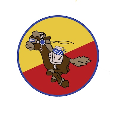 180th Airlift Squadron logo with bombs.