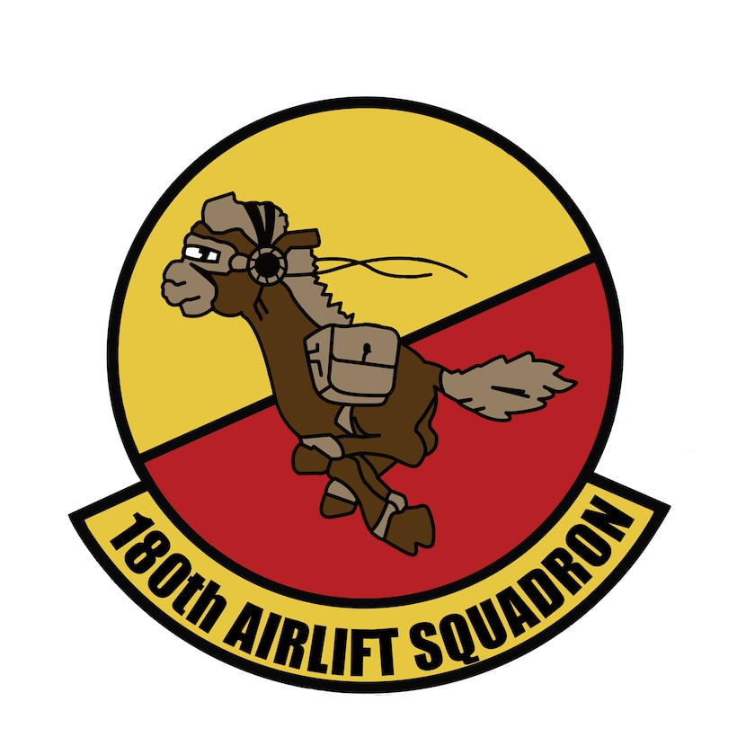 180th Airlift Squadron logo.