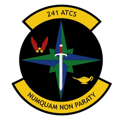 241st Air Traffic Control Squadron logo.