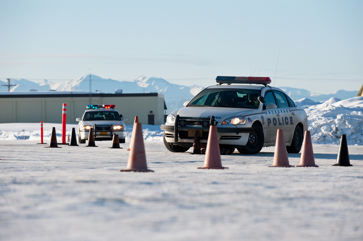 Anchorage police recruits hone emergency vehicle driving