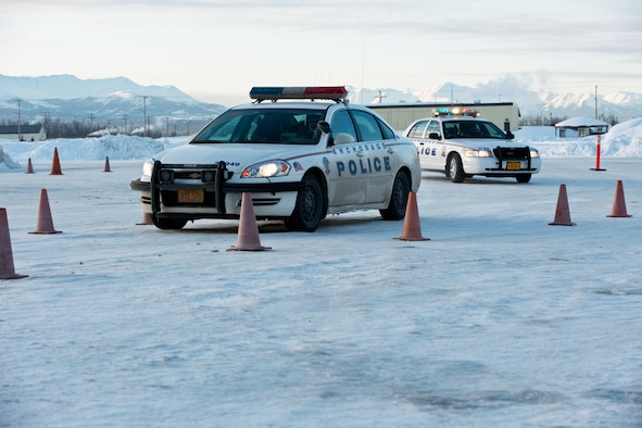 Anchorage police recruits hone emergency vehicle driving for Department of motor vehicles anchorage alaska