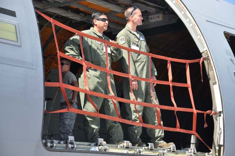 SANTIAGO, Chile – Crew members on the KC-10 Extender from the 349th Air Mobility Reserve Wing from Travis AFB, Calif., scan the air field at FIDAE air show in Santiago, Chile, March 27. The U.S. Air Force's participation in FIDAE illustrates the U.S. commitment to working with regional partners in ways that strengthen friendships, bolster partner nation capacities and expand cooperation between Airmen, which enhances regional security. (U.S. Air Force photo/Master Sgt. Kelly Ogden)