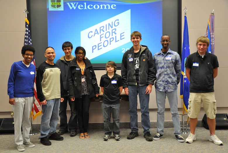 Students from Wheatland and Bear River high schools attend the Caring For People Forum at Beale Air Force Base, Calif., March 30, 2012. The students took part in a focus group which addressed Youth Programs and Support concerns. (U.S. Air Force photo by Staff Sgt. Robert M. Trujillo/Released)