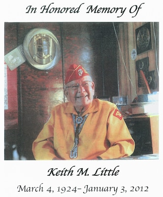 "ALBUQUERQUE, N.M., -- Recently New Mexico Governor Susana Martinez proclaimed Jan. 7, 2012, as ""Keith Little Day.""  Little passed away at age 87 in Fort Defiance, Ariz., Jan. 3. He was one of four surviving Navajo Code Talkers. Approximately 10 years ago Little's granddaughter, Malinda Chaco, project assistant at Cochiti Lake, learned he was a World War II Code Talker."