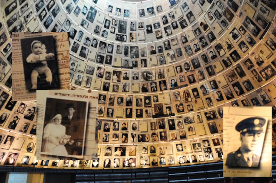 The conical Hall of Names near the end of Yad Vashem, the Holocaust Museum in Jerusalem, shows hundreds of personal pictures of those who perished during the Holocaust. (Courtesy photo)