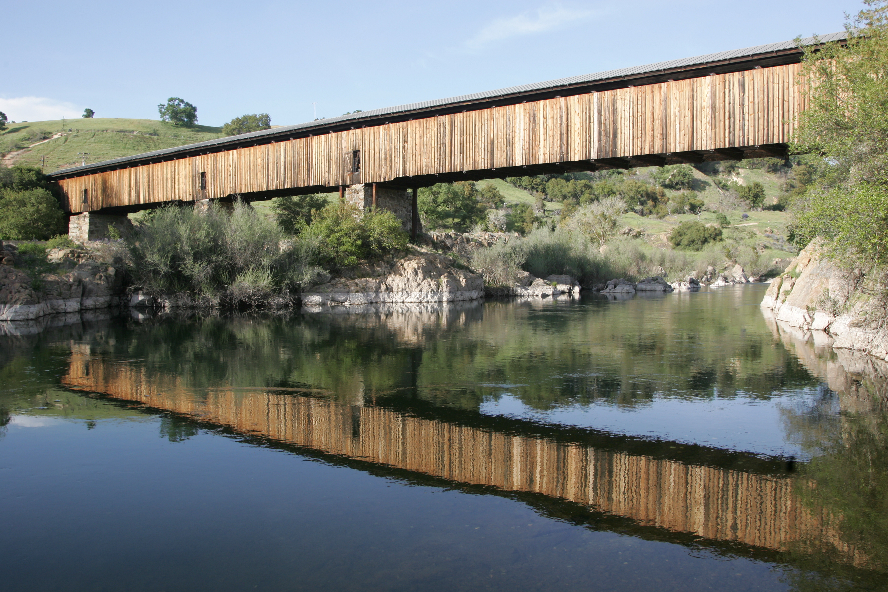 Corps to restore historic knights ferry covered bridge for Knights bridge