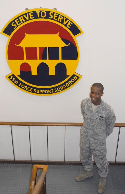 Airman 1st Class Bamiyo Dominic Onnekikami, 51st Force Support Squadron. (U.S. Air Force photo/Tech. Sgt. Eric Petosky)