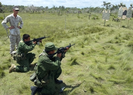 Training with Belize Defense Force