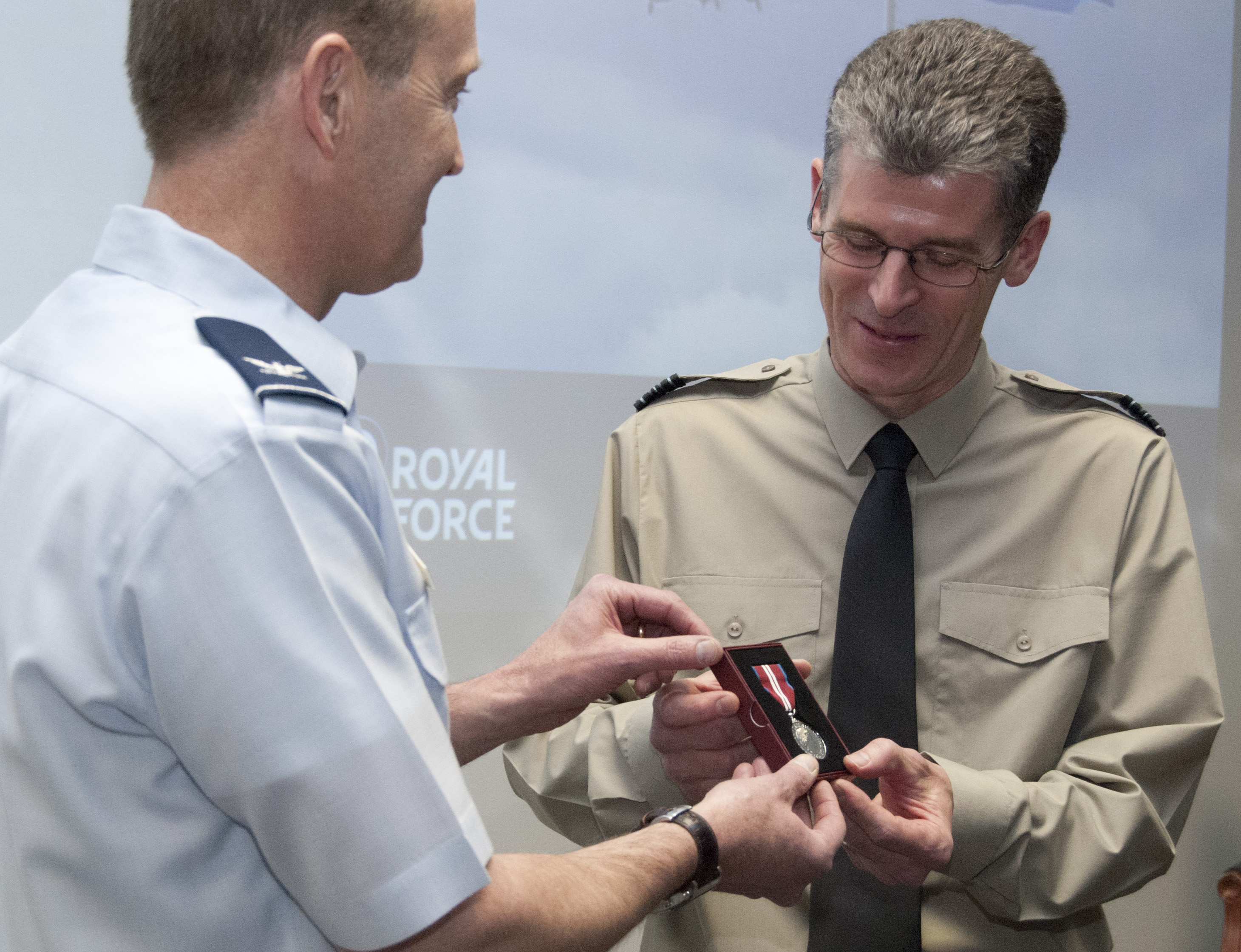 RAF officer departs Air Force Academy