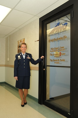 The new 107th recruiter Tech. Sgt. Krystalore Stegner just completed the challenging Air National Guard's Recruiting School, and is now looking to fill the many part-time job openings within the 107th Airlift Wing.(U.S. Air Force Photo by Senior Master Sgt. Ray Lloyd)