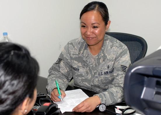 Staff Sgt. Jean Risinger, 51st Aerospace Medicine Squadron. (U.S. Air Force photo/Tech. Sgt. Eric Petosky)