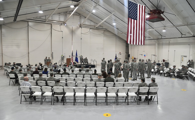 Cannon Air Commandos await the inactivation of the 56th Intelligence squadron at Cannon Air Force Base, N.M., April 27, 2012. The Inactivation of the 56 IS allowed for the activation of the 56th Special Operations Intelligence Squadron. (U.S Air Force photo Airman 1st Class Xavier Lockley)