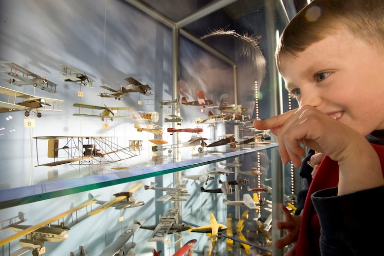 DAYTON, Ohio -- Eugene W. Kettering Model Aircraft Collection on display at the National Museum of the U.S. Air Force. (Air Force Museum Foundation photo by Dan Patterson)