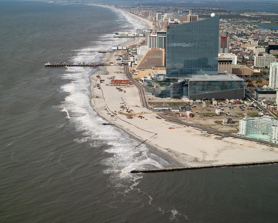 Atlantic City during construction
