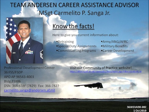 Career assistance advisor flyer