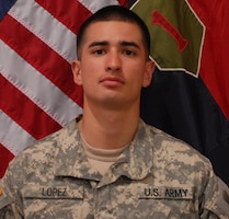 Pfc. Jesus Jonathan Lopez died Aug. 1, 2012, 1st Bn, 28th Inf. Reg, 1st Inf. Div., Fort Riley, Kan.