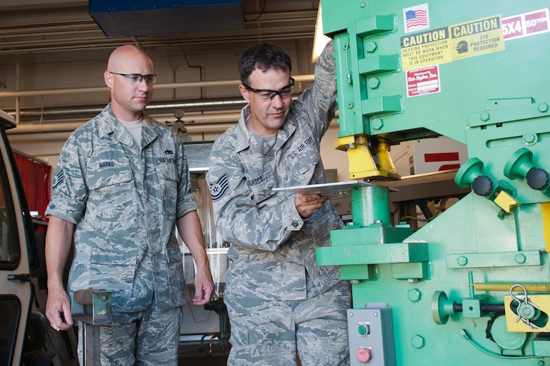 The 12th annual Toy Show, during Family Day Sept. 9 at Gowen Field, will showcase the hobbies and interests of Idaho Air National Guard Members. Staff Sgt. Phil Bates (left) and Tech Sgt. Greg Slater, both machinists in the 124th Maintenance Squadron's Metals Technology shop, and gearheads in their free time, have helped coordinate the Toy Show since its beginning.