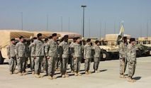 230th FMCO C Det with new Commander.