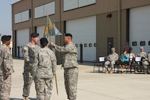 LTC Stamm takes the Guidon.