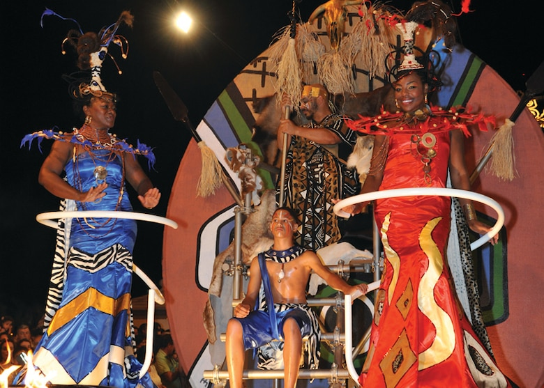 Us members join portuguese in praia fest parade p stylefont an african king prince and two queens greet thousands of people in praia da vitoria m4hsunfo