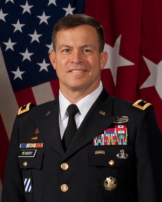 Major General John W. Peabody, U.S. Army Corps of Engineers Mississippi Valley Division Commander and Mississippi River Commission President.