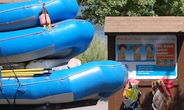 Life jacket loaner board at Heritage Landing on the Deschutes River.