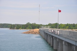 HARTWELL, Ga. — A view of the U.S. Army Corps of Engineers Savannah District Hartwell Dam.