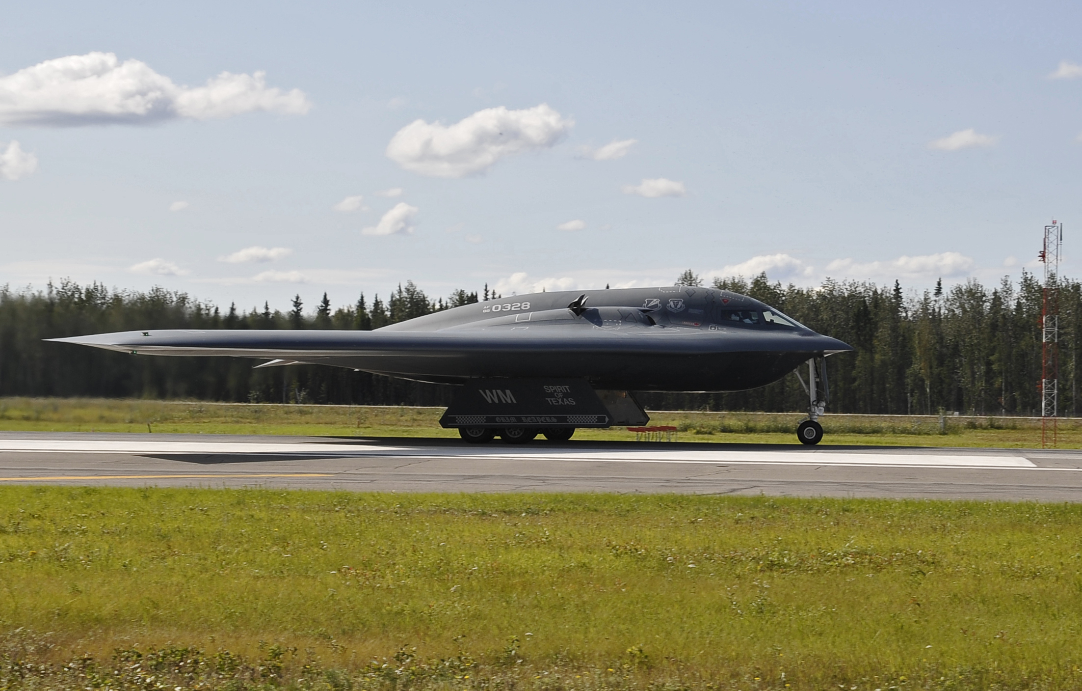 A B 2 Spirit Of Texas Waits For The Signal To