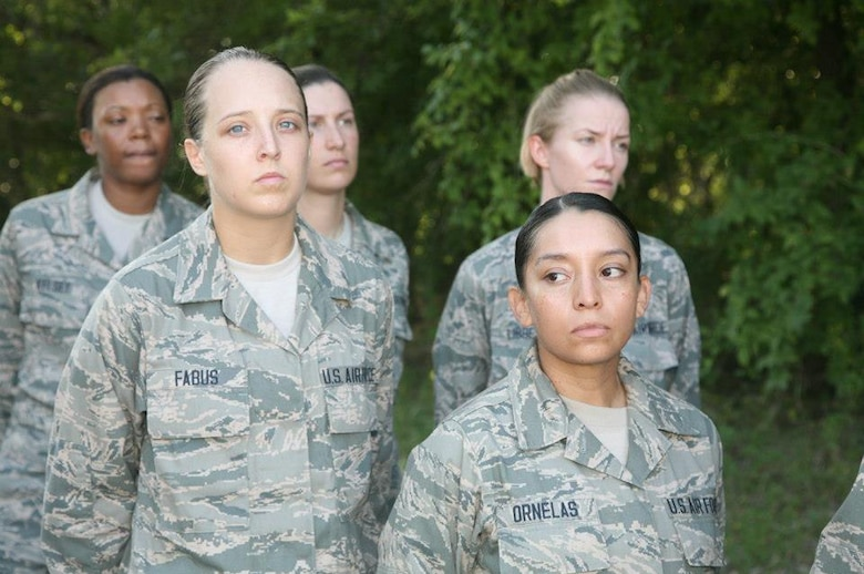 Photos appearing on the USAF BMT facebook page feature some 171st Air Refueling Wing recruits Alyssa Dunlap and Clarissa Fabus.
