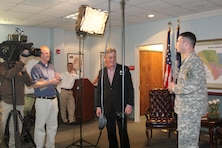 Lt. Col. Ed Chamberlayne discusses the Post 45 harbor deepening project in an interview with John Roberts of Fox News.