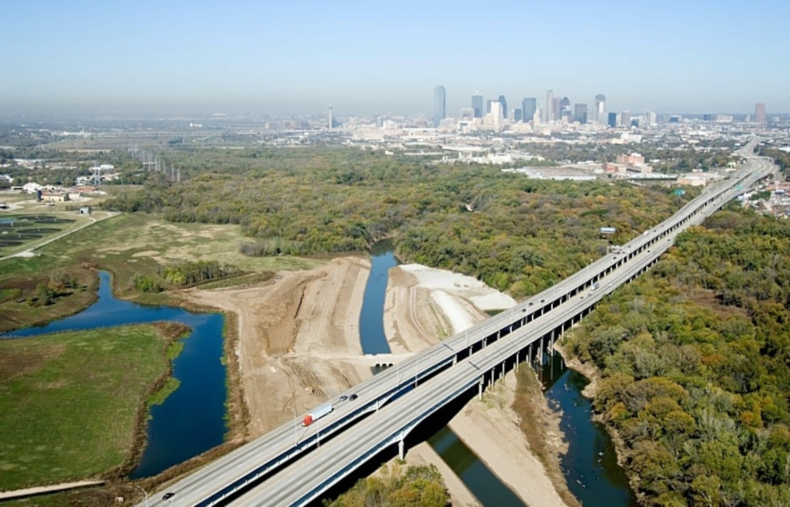Cell D, Dallas Floodway Extension on Trinity River near Dallas, Texas