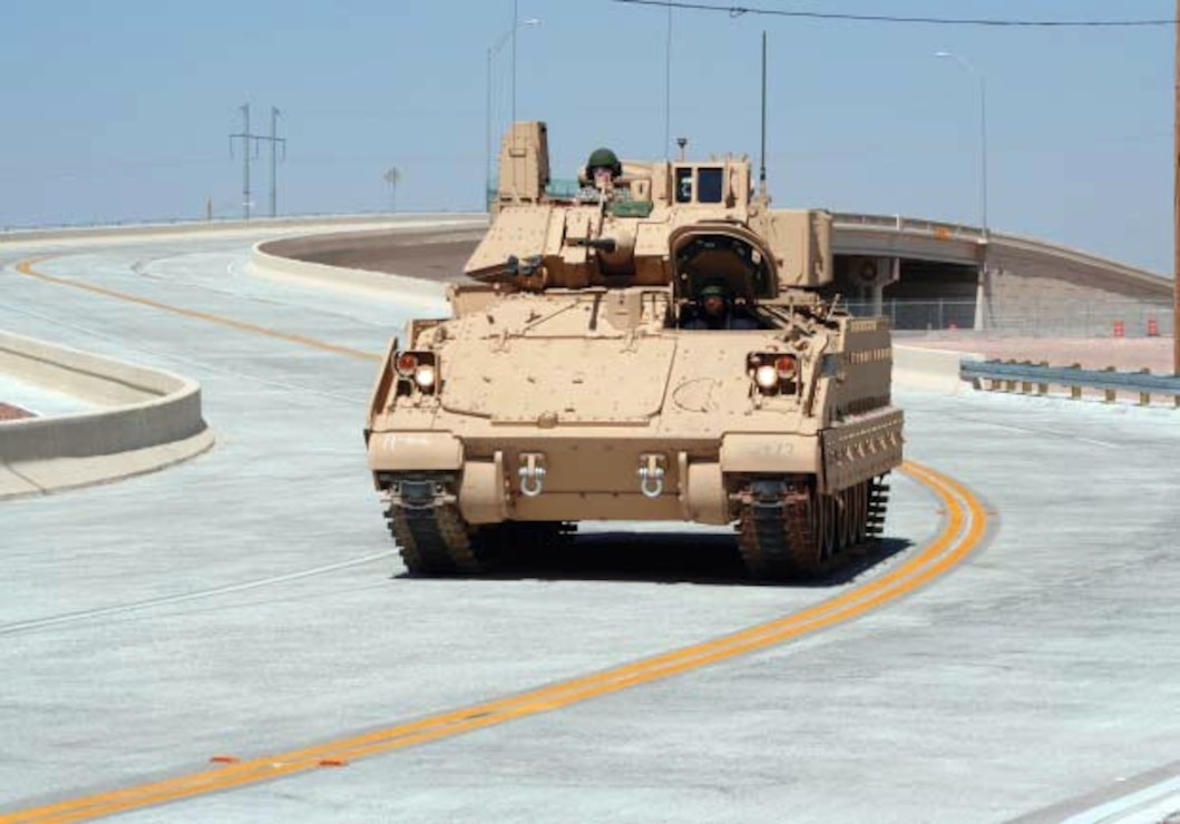 Haan Bridge, Fort Bliss Texas, links the main post to the major expansion areas of Biggs Army Airfield and East Biggs