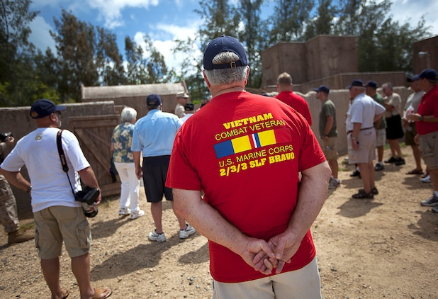 The memories never fade: Marines, Vietnam veterans pay