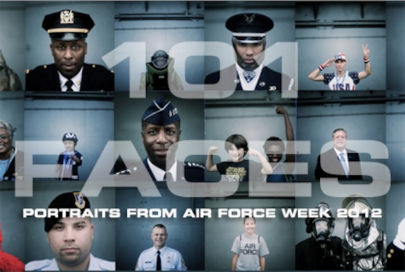 101 Faces of Air Force Week in New York City. (Graphic by Michael Jovel and photos by Master Sgt. Jeremy Lock)