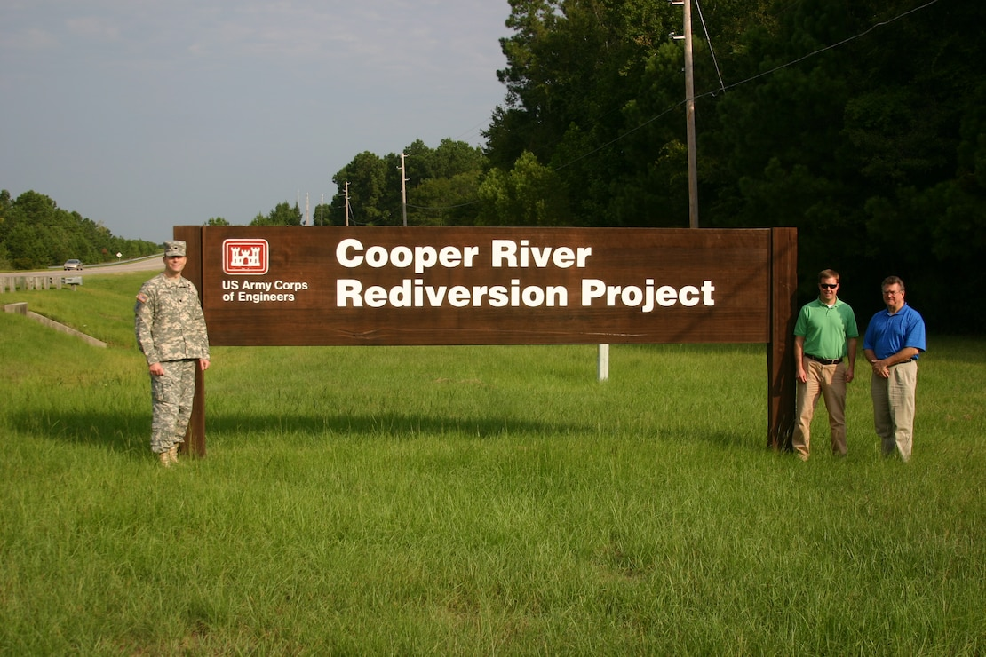 Cooper River Rediversion Sign