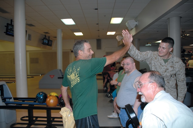 The Strikers bowling team practices for an upcoming tournament at Pin City Bowling Alley, Aug 2. The team, made up of approximately 20 Special Olympians, is preparing for the Georgia Masters Bowling Special Olympics, which will be held Aug. 24-26 in Warner Robins, Ga.