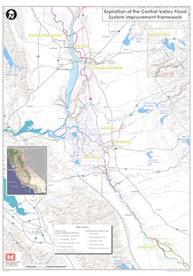 U.S. Army Corps of Engineers levee system inspection ratings in California's Central Valley, as of Aug. 22, 2012.