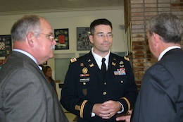 During Change of Command, Lt. Col. Chamberlayne met with several key stakeholders.