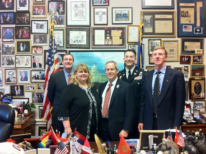 The Charleston District gathers for a photo with US Rep. Joe Wilson in his office.