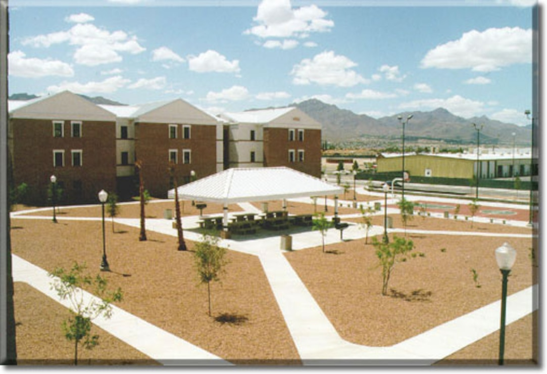 Military base housing at Fort Bliss, El Paso, Texas