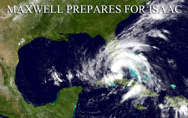 Maxwell Air Force Base is taking precautionary steps to prepare for what is expected to be Hurricane Isaac. Isaac is expected to make landfall by Tuesday, reaching the Maxwell AFB, Gunter Annex area by Wednesday evening. (U.S. Air Force illustration by Senior Airman Christopher Stoltz)