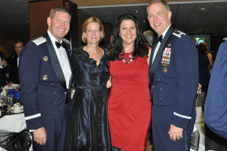 Members of 12th Air Force (Air Forces Southern), civic leaders and subordinate commanders and command chiefs celebrated the 70 years of 12th AF at a gala attended by more than 350 people here, Aug. 24. (Photo by Master Sgt. Kelly Ogden/Released).