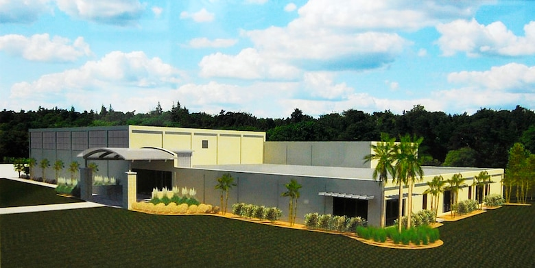Rendering of Homestead Air Reserve Base's upcoming fitness center, currently under construction.