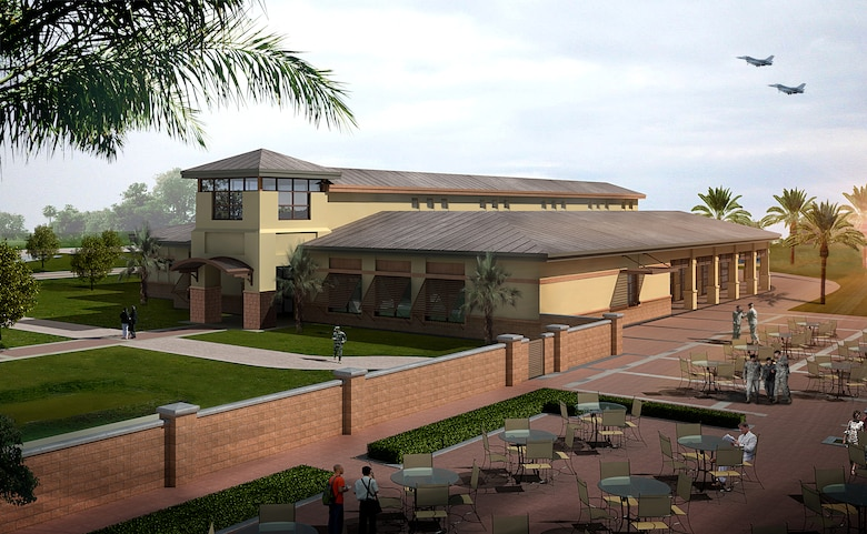 Rendering of Homestead Air Reserve Base's upcoming dining facility now under construction.