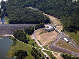 The U.S. Army Corps of Engineers' Philadelphia District widened the spillway at Prompton Dam from from 85 to 130 feet to improve the safety of the dam in 2012. The project has prevented more than $20 million in cumulative damages since its construction.
