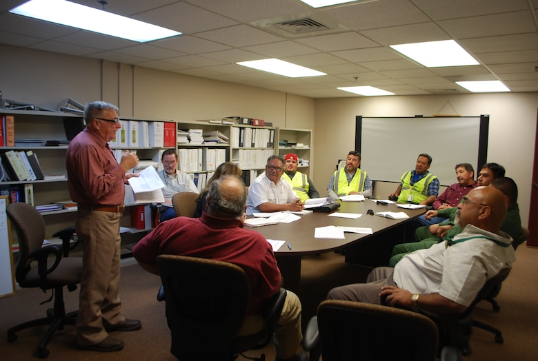 In January, representatives from the District's El Paso Resident Office, Border Patrol and Mirador Enterprises (and subs) met for an important design charrette on a Border Patrol project.
