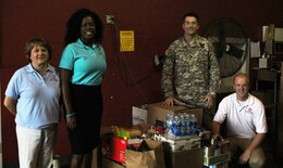 The Charleston District donated exactly 500 lbs of food to the Feds Feed Familes program.
